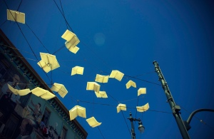 flying books